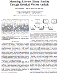 "Paper ""Measuring Software Library Stability through Historical Version Analysis"