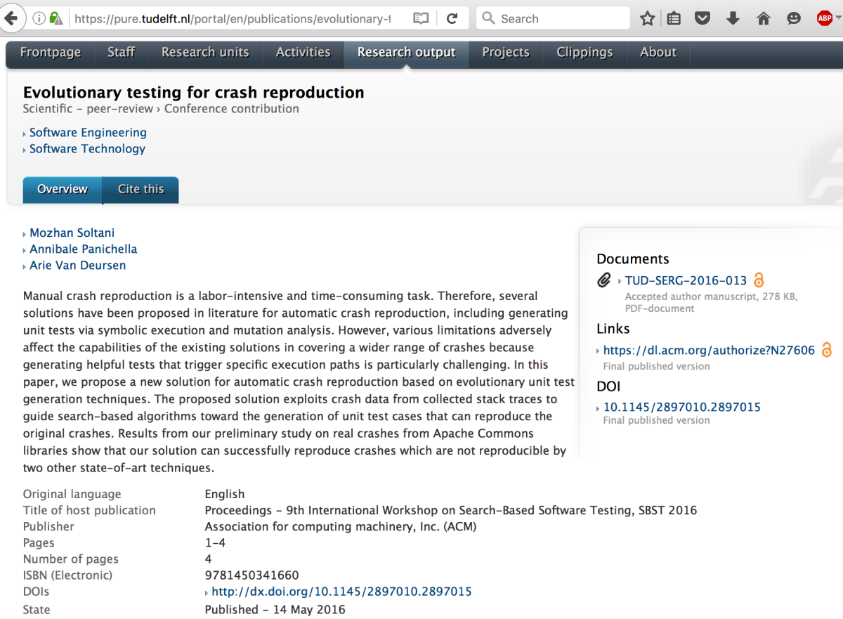 Self-Archiving Publications in Elsevier Pure